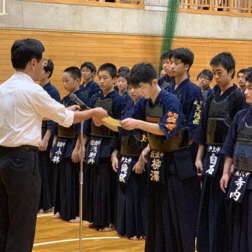 令和元年度更埴中学校新人体育大会剣道大会